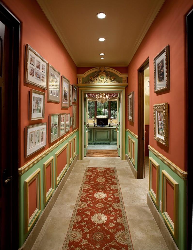 elegant hallway - Colleen Pawling Interior Design