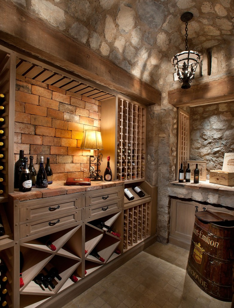 wine cellar - Colleen Pawling Interior Design